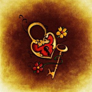 Schlüsselherz klein